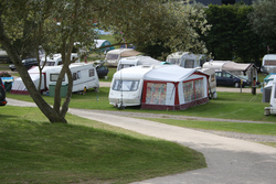 Image: Touring caravans at Bagwell Farm Touring Park, Weymouth, Dorset
