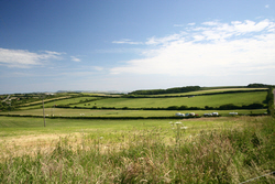 Image: Overlooking the Rally Field at Bagwell Farm, Weymouth, Dorset